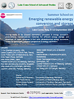 «Emerging renewable energy conversion and storage» poster